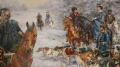 Русская охота зимой, фрагмент
