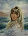 Портрет на фоне моря